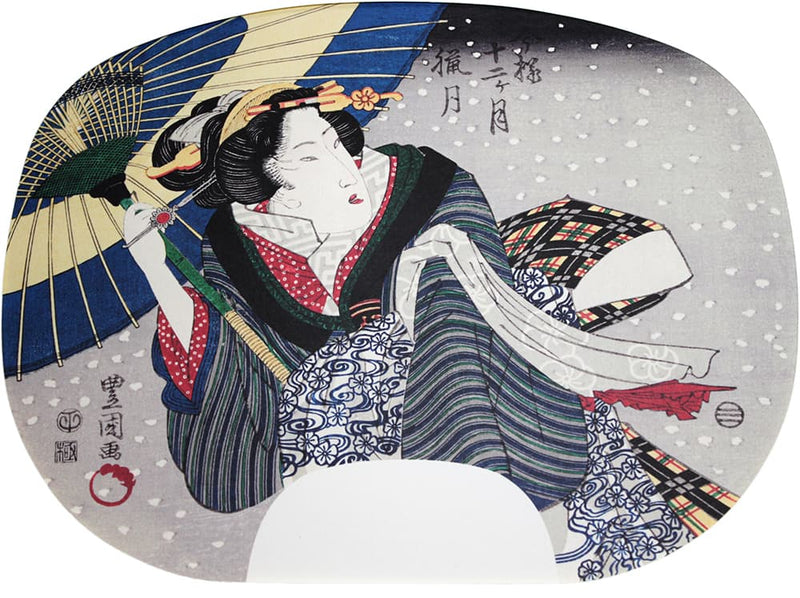 Ibasen Uchiwa-e, the first Utagawa Toyokuni, 12 months now, No.12, Tatetsuki (December of the Yin calendar)