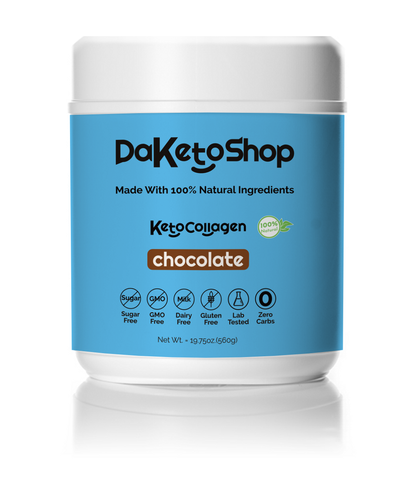 daketoshop dark chocolate keto collagen powder
