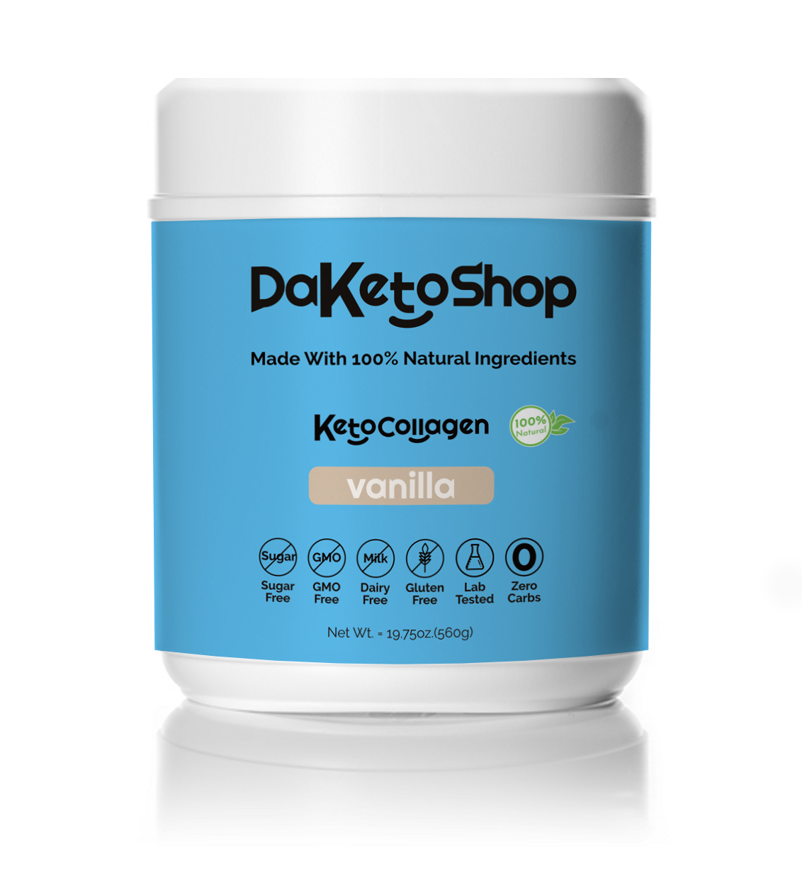 daketoshop french vanilla keto collagen powder