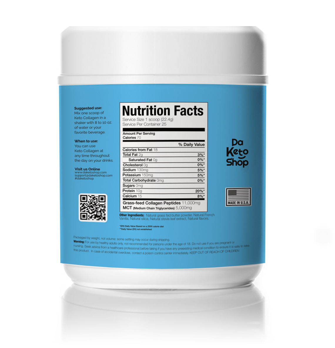 daketoshop french vanilla keto collagen powder nutritional facts