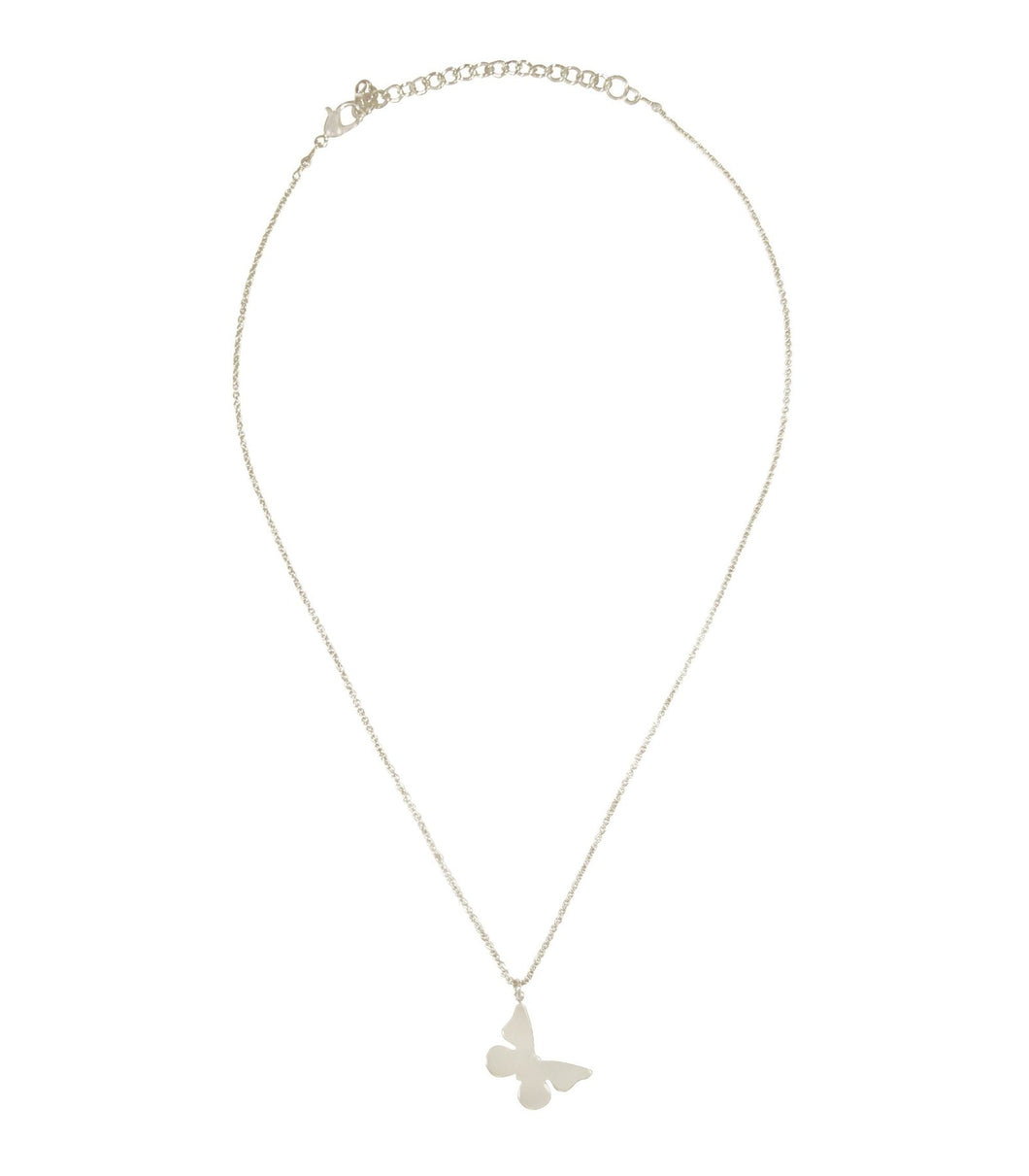 Silver butterfly breeze necklace