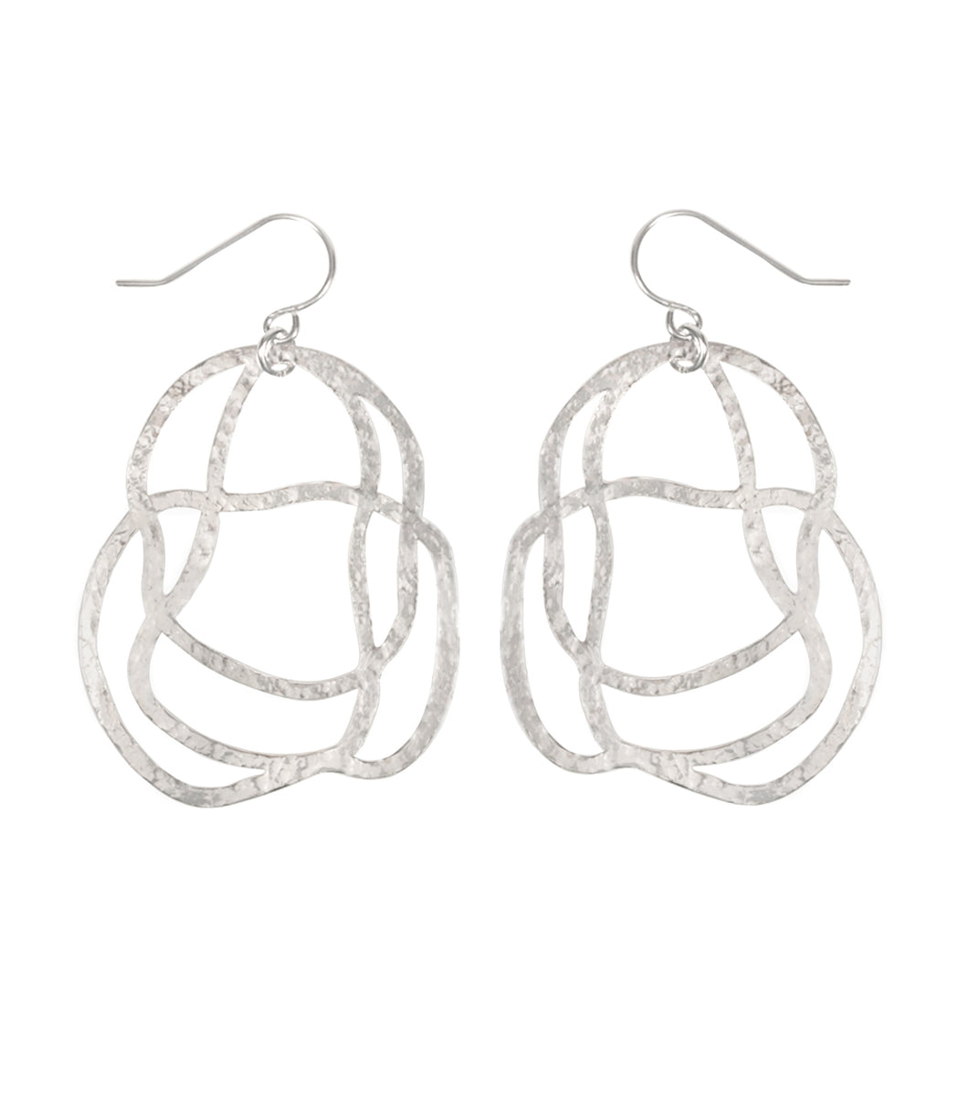 daydreamer rhodium earrings