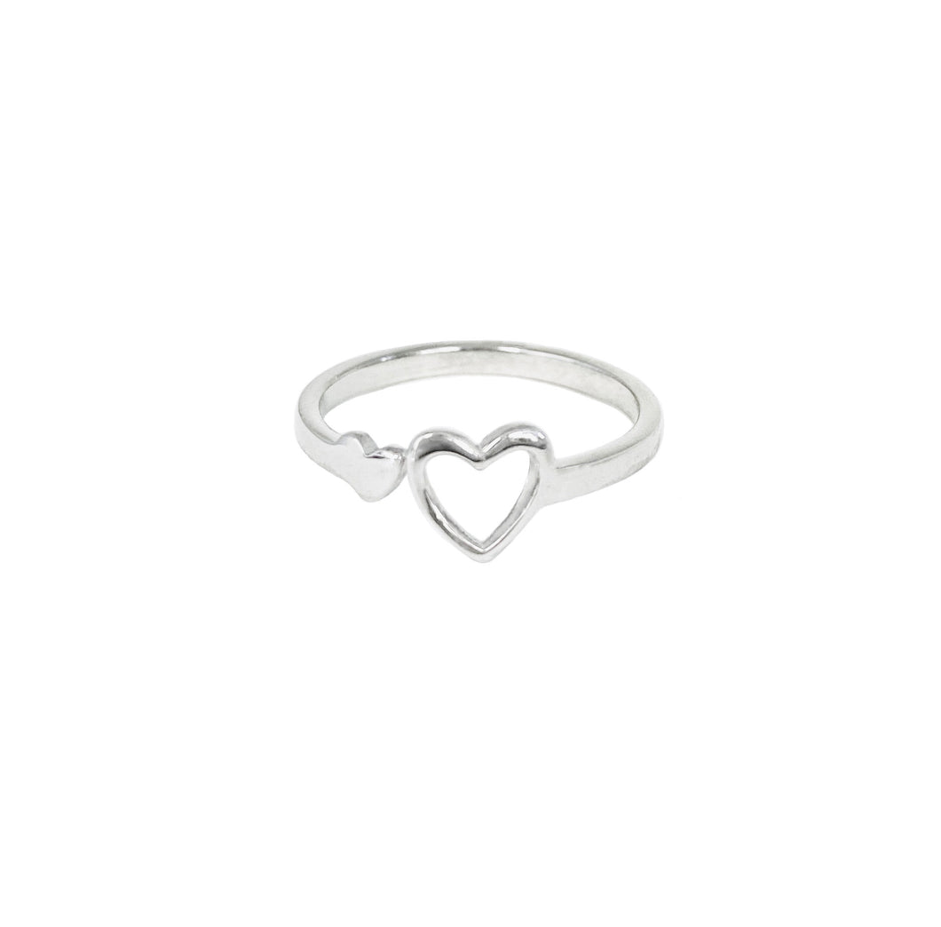 Silver tone miracle heart ring isanctuary