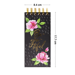 Floral notepad easy to carry size