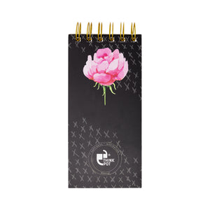 Back of floral notepad