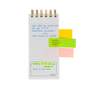 Ruled sheet with sample notes polka notepad