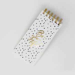 Be you tiful polka notepad