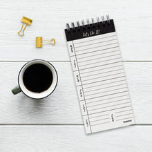 Load image into Gallery viewer, Lets do it weekly notepad planner spiral bound for desk