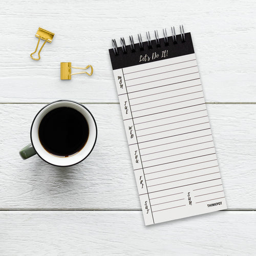 Lets do it weekly notepad planner spiral bound for desk