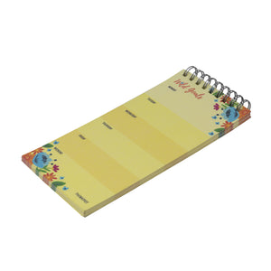 Wild gold weekly planner notepad by thinkpot