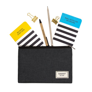 Black large pouch for stationery or other little items