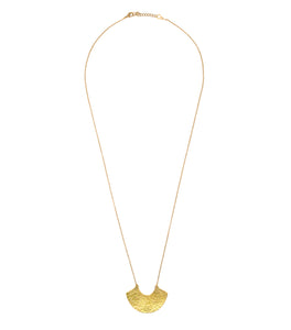 Rosa brass necklace pendant and long chain