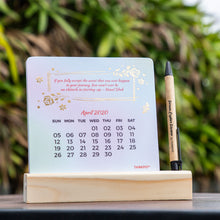 Load image into Gallery viewer, floral calendar 2020 with pen stand