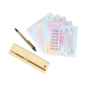 desk calendar 2020 with floral design and pen