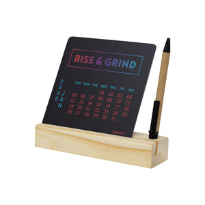 rise grind calendar 2020 with pen