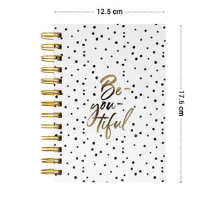 b6 size diary with polka design