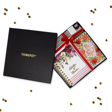 Load image into Gallery viewer, Floral sttionery gift set in box with ribbon