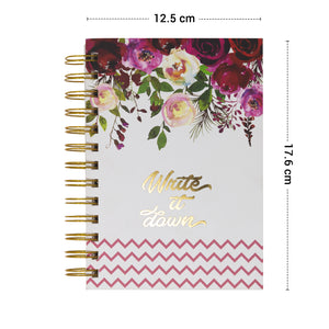 Floral diary spiral bound