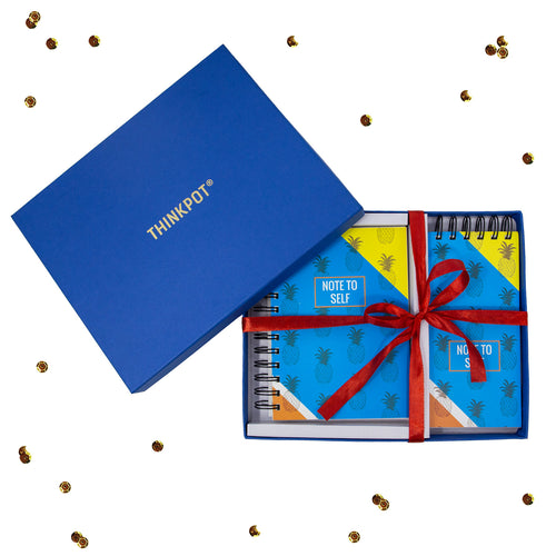Note to self stationery set in blue box