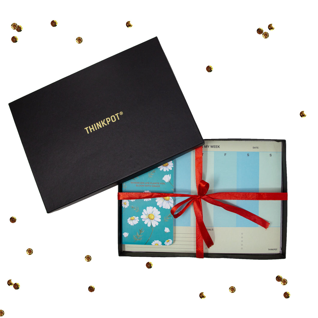 Bloom stationery gift set in box