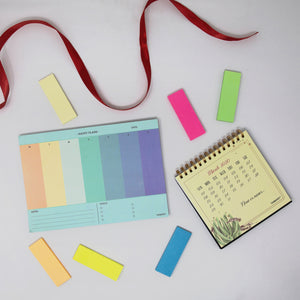 Happy plan gift set calendar planner and sticky pads