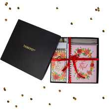 Load image into Gallery viewer, Be You tiful floral stationery gift set in box