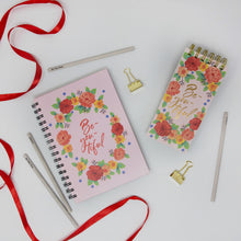 Load image into Gallery viewer, Floral pink diary and notepad set