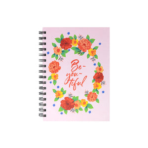 Floral pink diary part of gift set