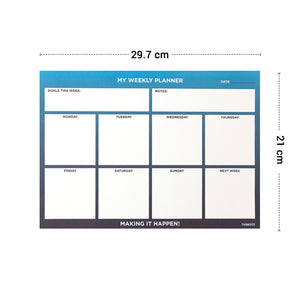 Happen weekly planner in a4 size