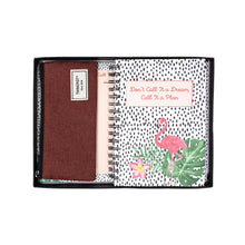 Load image into Gallery viewer, Flamingo stationery gift set in box