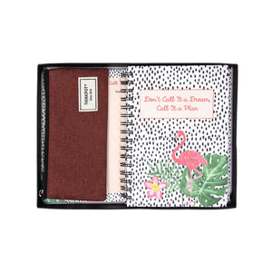 Flamingo stationery gift set in box