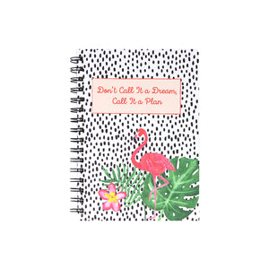flamingo spiral bound diary planner