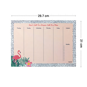 Flamingo weekly planner