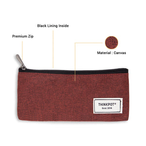 Thinkpot pouch canvas fabric with zip and inside lining