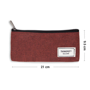 size of canvas pencil pouch