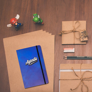 agenda notebook blue