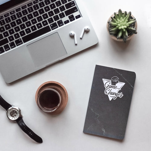 Game changer black compact notebook
