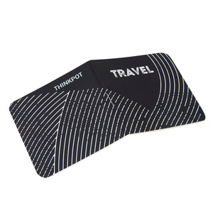 Travel pocket book with black white print cover
