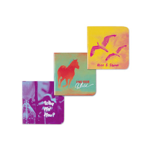 Rise and shine colourful vinrant pocket books