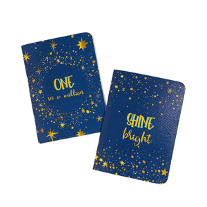 Shine bright and one in a million pocket book set of 2