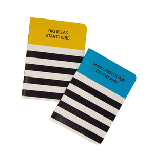Set of 2 notebooks for big ideas