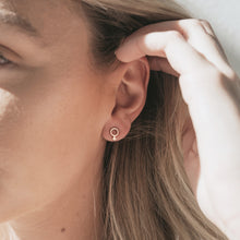 Load image into Gallery viewer, Virtue stud earrings in brass for everyday wear