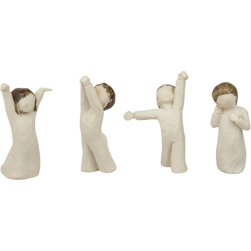 set of 4 angel children
