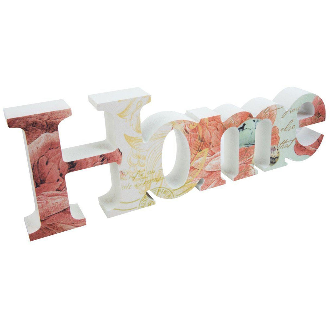 Printed home cutout for decoration at home with floral print