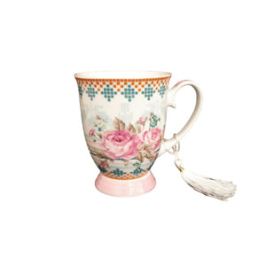 ceramic vintage rose mug with gift box