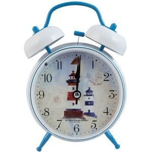 nautical design clock with lighthouses