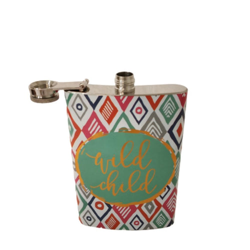 Hip flask open wild one vibrant colourful