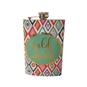 Hip flask aztec print tribal fun wild one