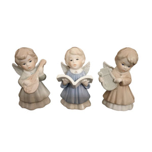 Set of three angels with musical instruments