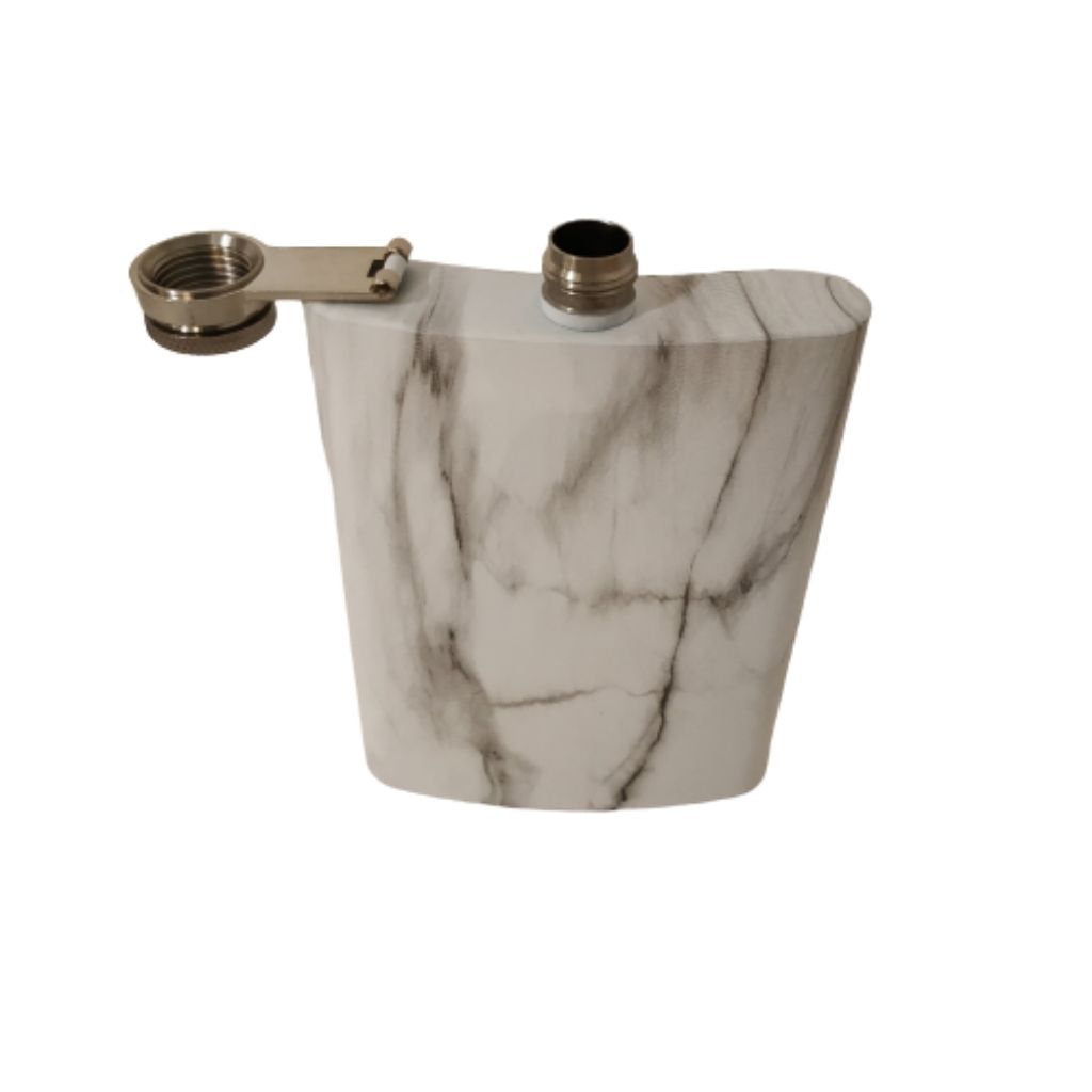 Hip flask classic marble design
